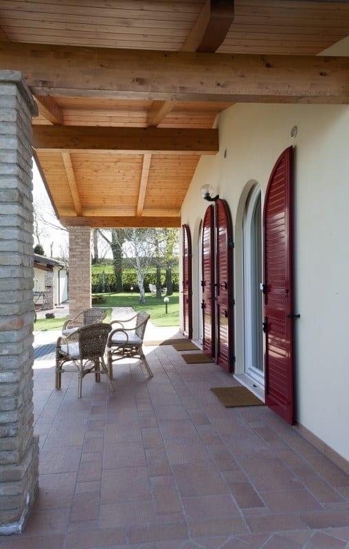 veranda casa in legno