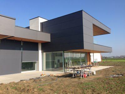 casa in legno moderna xlam sporgenza