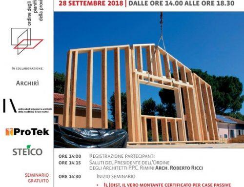Convegno sul Joist: La vera casa a telaio in legno