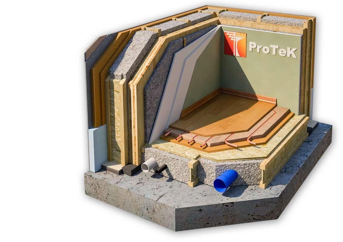stratigrafia parete xlam in legno telaio